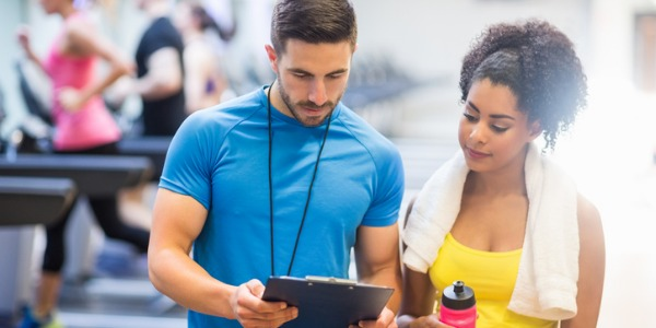 A fitness trainer leads, instructs, and motivates individuals or groups in exercise activities, including cardiovascular exercise (exercises for the heart and blood system), strength training, and stretching.