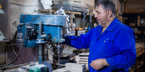 A drill press operator is someone who sets up, operates, or tends drilling machines to drill, bore, ream, mill, or countersink metal or plastic work pieces.