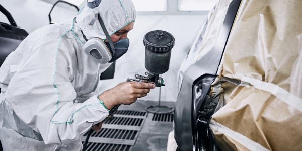Painting, coating, and decorating is usually done in a specially ventilated area. Workers typically wear masks or respirators that cover their nose and mouth.