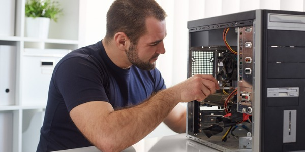 A computer repair technician is someone who installs, analyzes, repairs and maintains many different types of computer equipment, or may specialize in working on networks or servers.