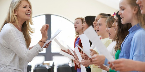 A choir director conducts and leads a choir. There are many types of choirs, including church choirs, children's choirs, school and community choirs.