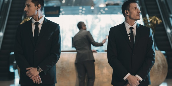 A bodyguard looks out for the personal security of individuals such as political figures, famous celebrities, business, or other individuals who may be in danger of personal attacks.
