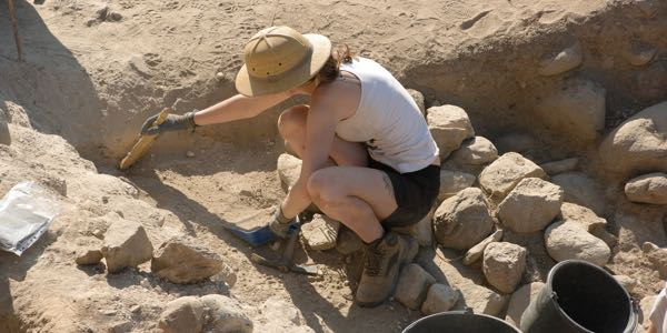 An archaeologist studies the origin, development, and behaviour of human beings, past and present.