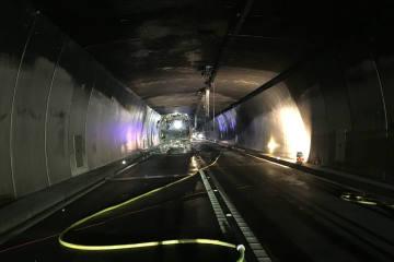 A13 Tunnelbrand San Bernardino GR - baldige Wiedereröffnung nach intensiven Arbeiten