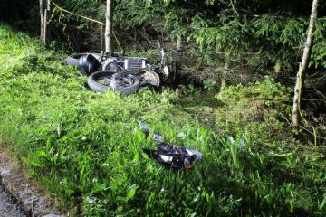 Haslen AI - Junger Motorradlenker verunfallt