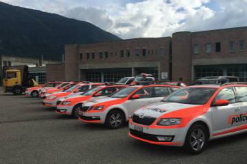 Martigny VS - Polizeiintervention beim offiziellen Standplatz für Fahrende