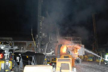 Reiden LU - Brand an einem Arbeitsgerät