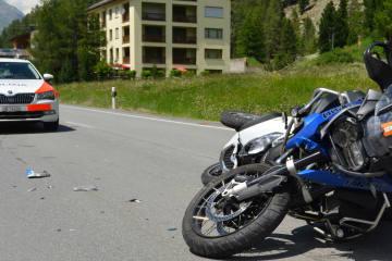Pontresina GR - Verkehrsunfall fordert zwei Verletzte