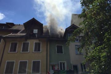 Mellingen AG - Brand in der Altstadt