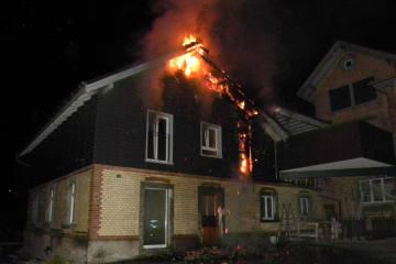 Neukirch TG - Brand während Nacht in Wohnhaus