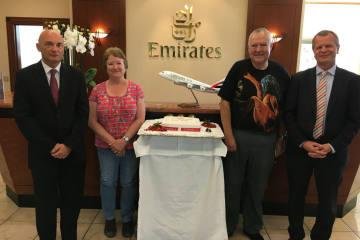 Emirates begrüsst den fünfmillionsten Passagier am Flughafen Zürich