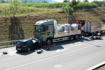 Bazenheid SG - Schwerer Unfall fordert drei Verletzte