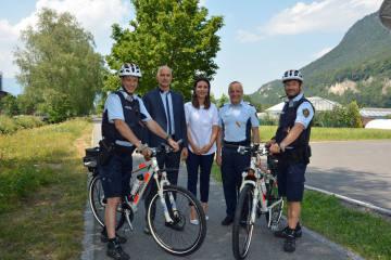 Liechtenstein FL - Bike-Polizei nimmt Fahrt auf