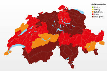 So sieht es am 2. August aus -  Übersicht der Feuerverbote in der Schweiz und Liechtenstein