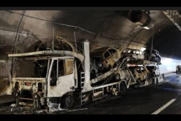 A2 Leventina TI - Verdacht auf Brandstiftung