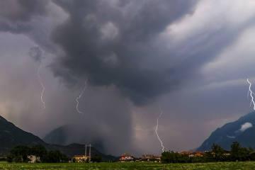 Schweiz - Trotz Kaltfront vielerorts nur wenig Regen