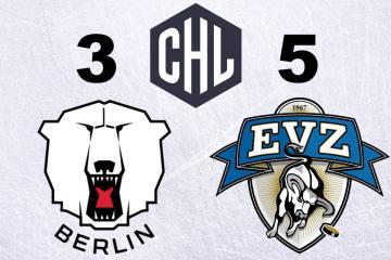 Der EV Zug gewinnt bei den Eisbären Berlin