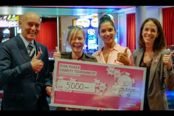 Grand Casino Luzern spendet 5'000 Franken für Pink Ribbon Schweiz