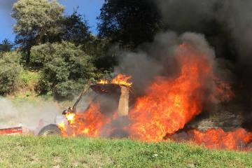 Ftan GR - Motorkarren bei Brand zerstört