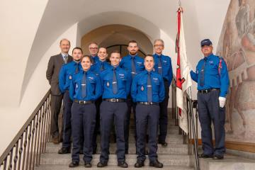 Chur GR - Sechs Polizisten/-innen der Stadtpolizei Chur