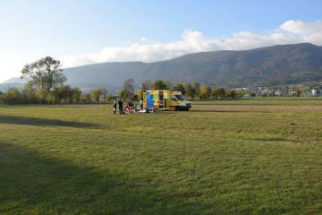 Grenchen SO -  Fallschirmspringer verletzt sich bei Landung