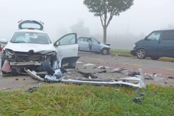 Kreuzlingen TG - Mehrere Verletzte nach Frontalkollision