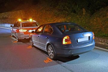 Chur GR - Betrunken in ein Patrouillenfahrzeug gefahren