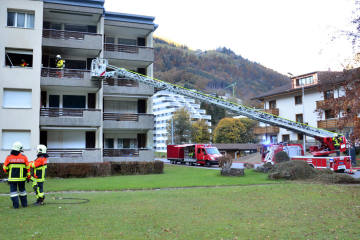 Engelberg OW - Brand im Mehrfamilienhaus