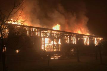 Jonen AG - Scheune brennt nieder