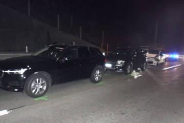 Göschenen UR - Auffahrkollision mit drei Personenwagen