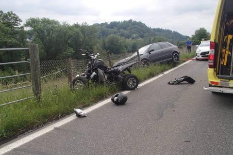 Lenzburg AG - Kollision zwischen Quad und Personenwagen
