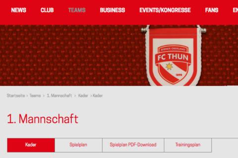 Der FC Thun verpflichtet weitere Spieler