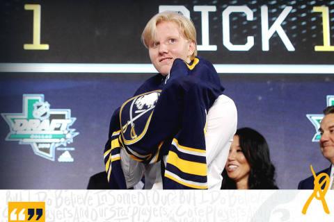 Die Buffalo Sabres ziehen Rasmus Dahlin als Nummer 1!