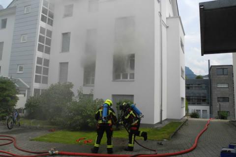 Ibach SZ - Wohnungsbrand verursacht Sachschaden