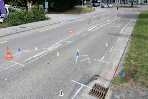 St.Gallen SG -Diverse Unfälle in der Stadt
