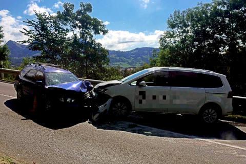 Broc FR - Unfall infolge von Übermüdung mit 2 Verletzten