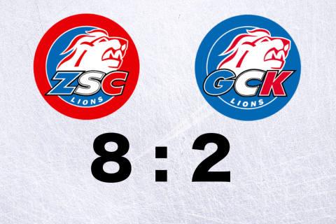 ZSC Lions gewinnen gegen ihr Farmteam