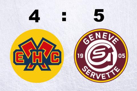 Genf-Servette schlägt den EHC Biel in letzter Minute