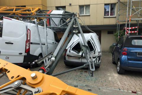 St. Gallen SG - Kran umgestürzt