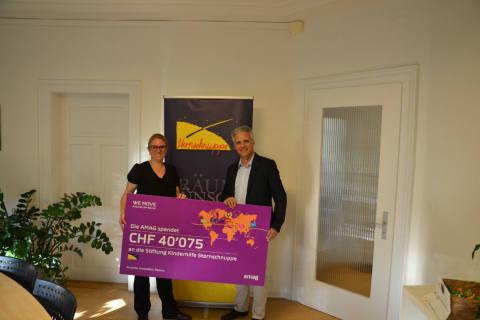 Amag spendet 40'075 Franken an Stiftung Kinderhilfe Sternschnuppe
