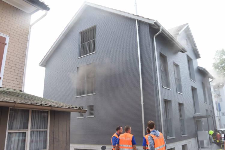 Flawil SG - Wohnung nach Brand und Rauchentwicklung unbewohnbar