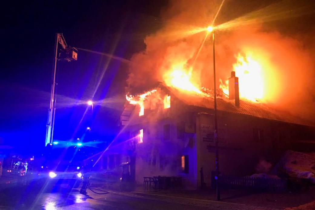Das Restaurant wurde beim Brand komplett zerstört.