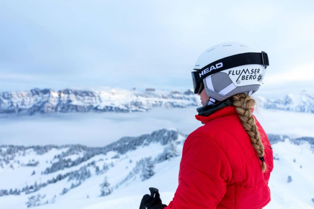 Erstes Wintersportvergnügen am Flumserberg.