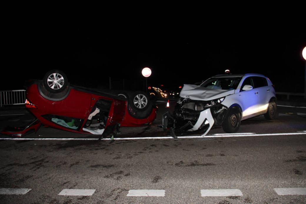 Endlage Unfallfahrzeuge