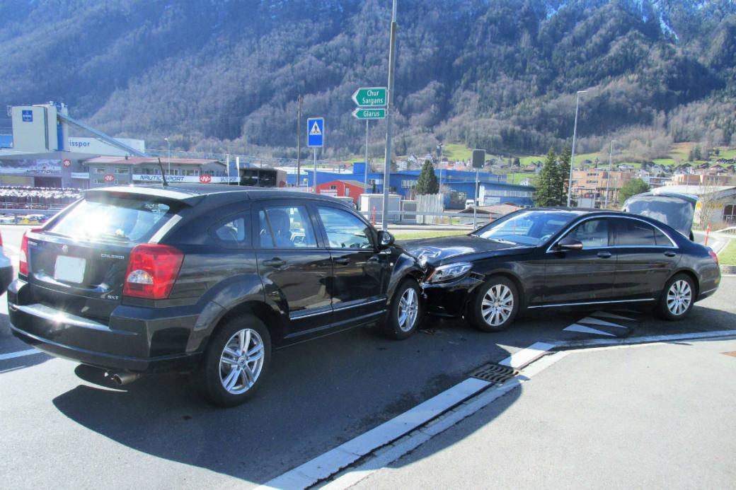 Ein Auto wurde übersehen.