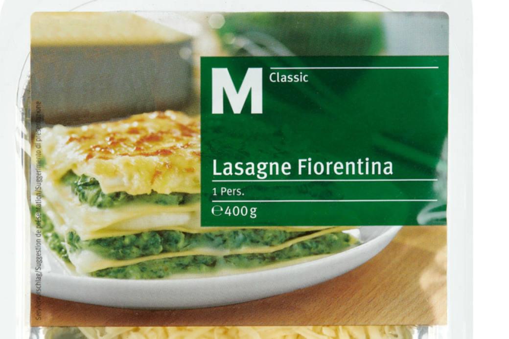 Diese Lasagne von der Migros wird zurückgepfiffen.