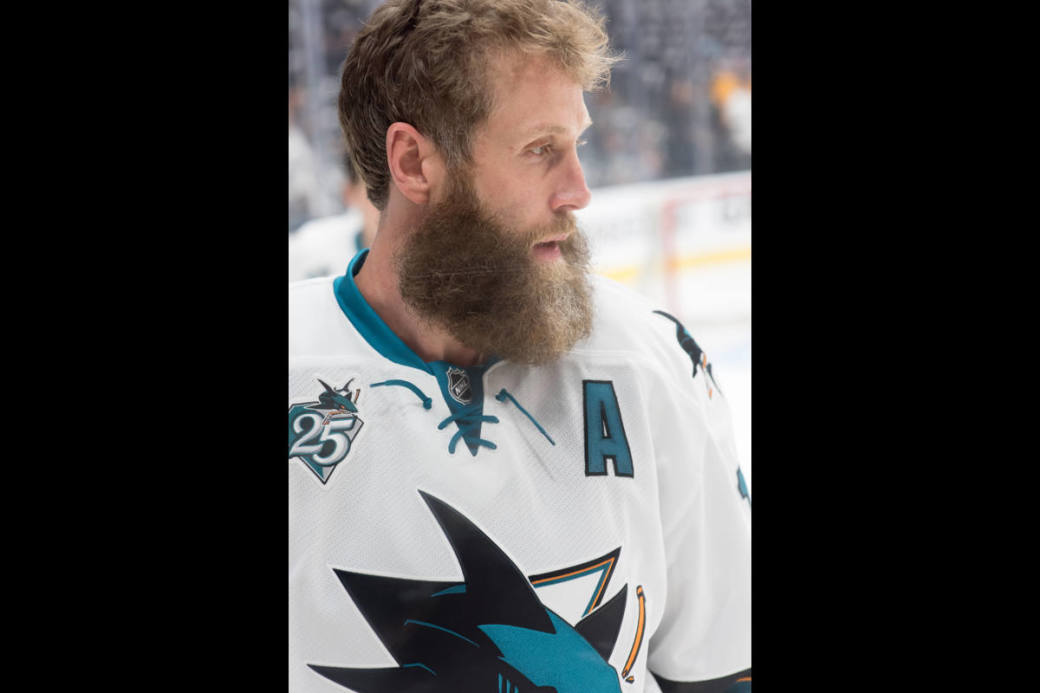 Joe Thornton im Dress der Sharks