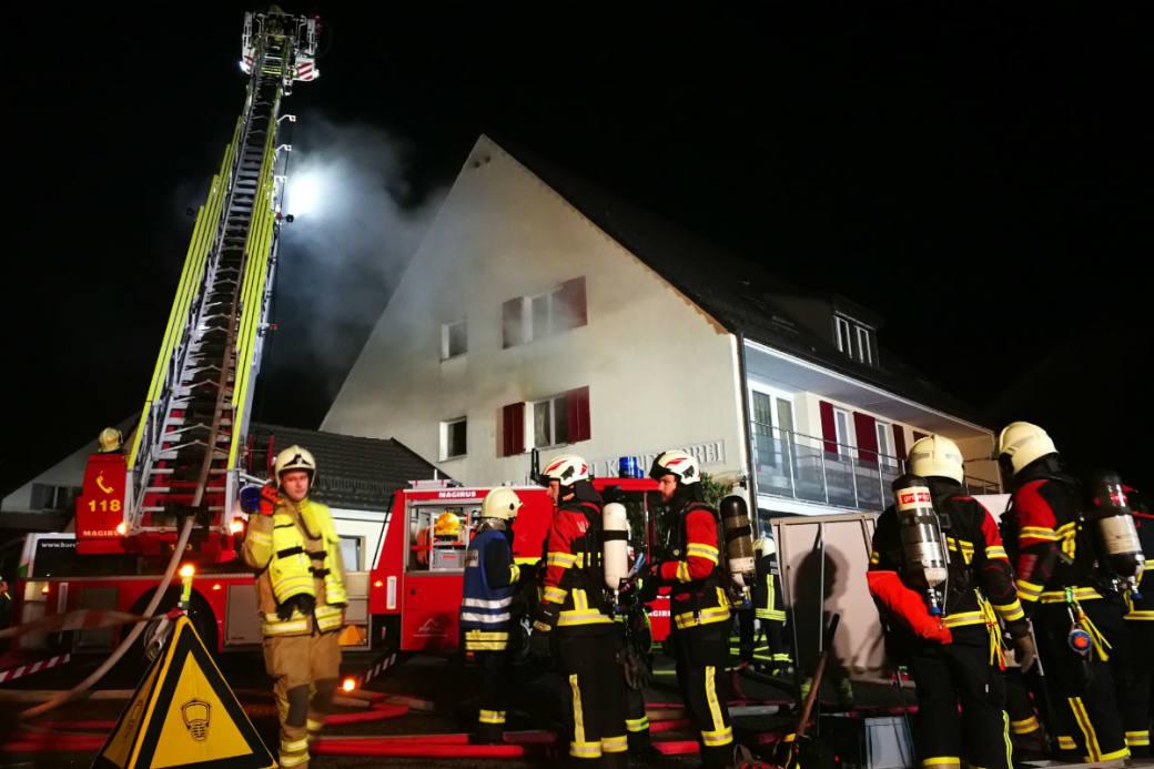 Die Brandursache wird ermittelt.
