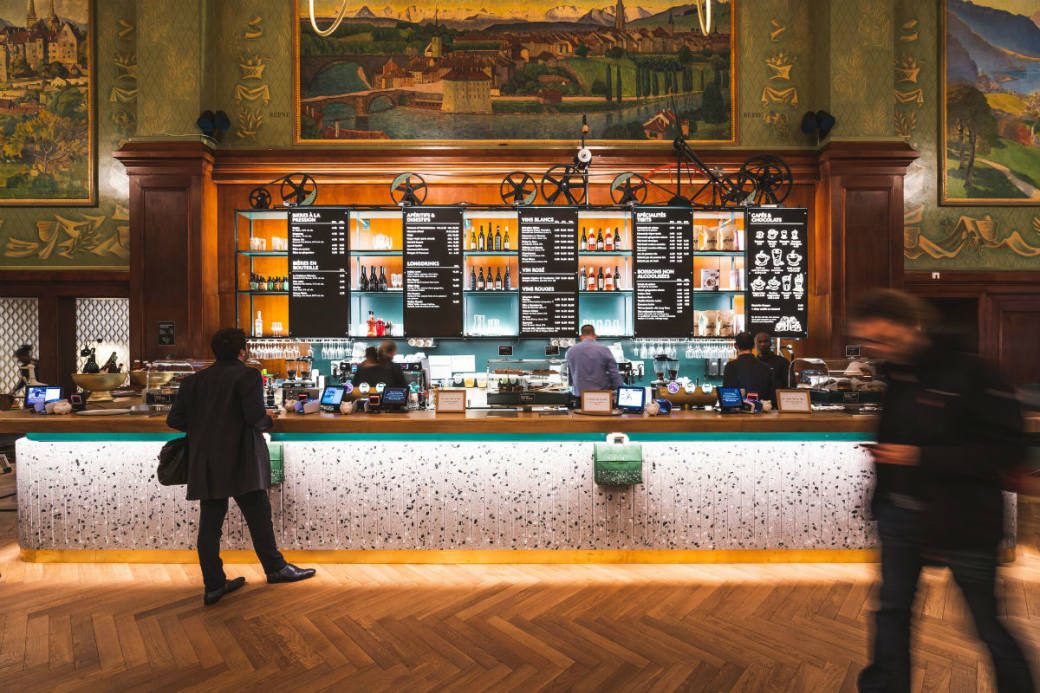 "Das neue tibits Lausanne im historischen ""Buffet de la Gare"""