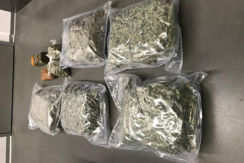 Marihuana wurde sichergestellt.
